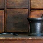 apocrathy medicine rx vintage old mortar-and-pestle