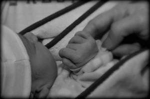 baby-hand-bw
