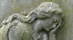 cemetery angel in graveyard