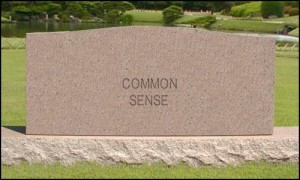 common sense gravestone