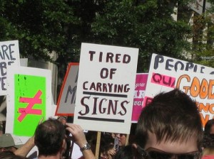 Inequality for All - Protest Sign