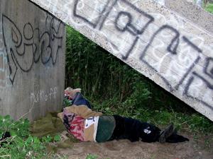 homeless  street-people poor outside sleeping vagrant