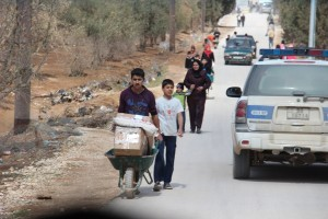ACN photo: Refugees entering Jordan