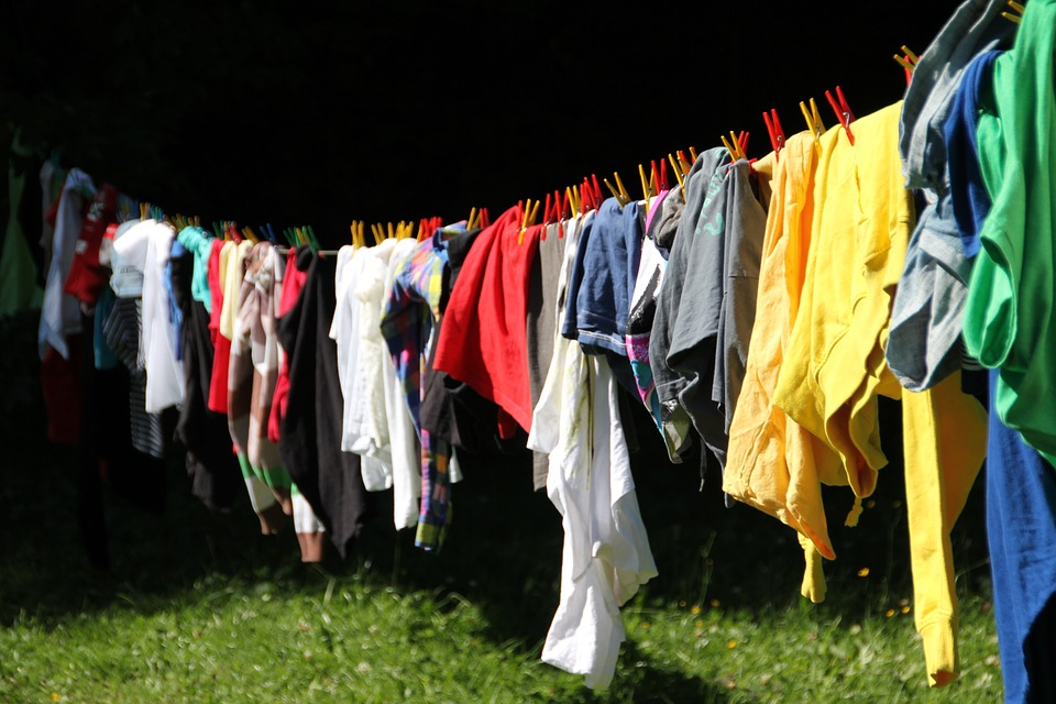 laundry clothes line colorful