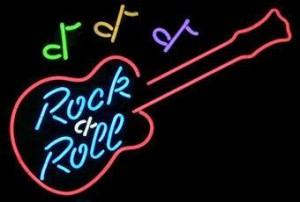 neon Music Rocknroll guitar