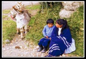 peruvian girl and child