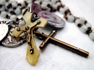 relic rosary cross crucifix
