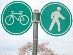 Traffic Sign - Bicycle / Pedestrian