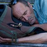 sleeping nap outside rest travel doze man