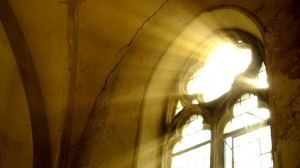 sunbeam, church, window