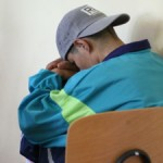 teen boy sleep chair rest nap