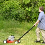 teen chores lawnmower work yardwork