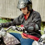 teen motorcycle biker helmet ride