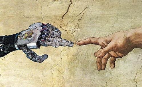 A posthuman take on The Creation of Adam